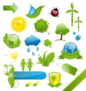 19676341 - illustration set of green ecology icons - vector